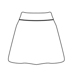 skirt black color path icon vector image vector image