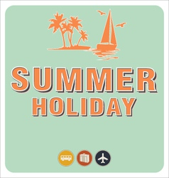 Summer background in retro style vector image