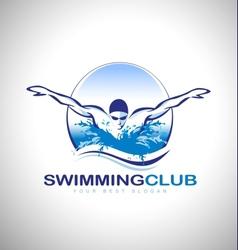 Swimming Design Logo vector image