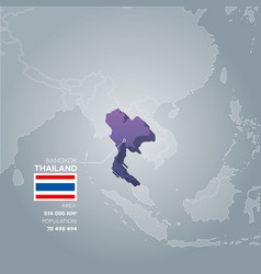 Thailand information map vector