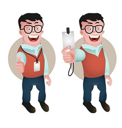 employee preview vector image