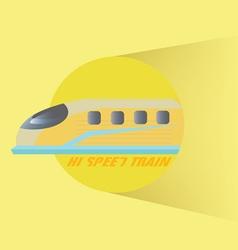 High Speed Train vector image