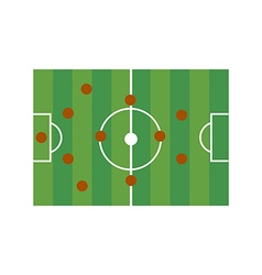 Football field 4-4-2 vector