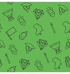 Africa set pattern vector image
