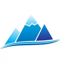 mountain icon vector image