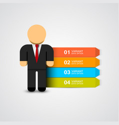 business man infographics with options vector image