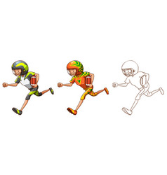 Drafting character for american football player vector
