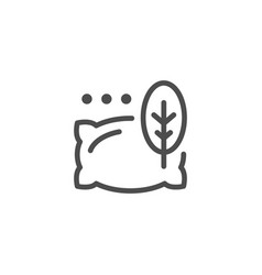 Pillow line icon vector
