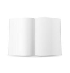 Open magazine spread blank  isolated on vector