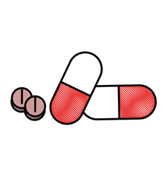 Medicine pills isolated vector