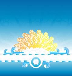 sunny water splash banner stripe vector image