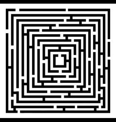 2d black maze vector image