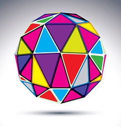 Dimensional modern abstract object 3d disco ball vector