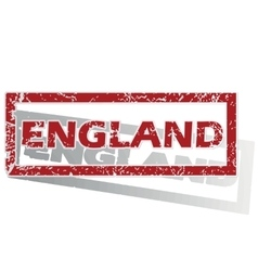 England outlined stamp vector