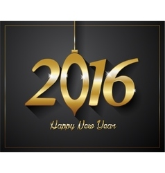 2016 happy new year golden letters flyers covers vector
