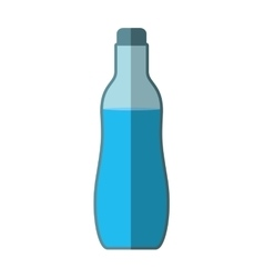 Water bottle icon healthy and organic food vector