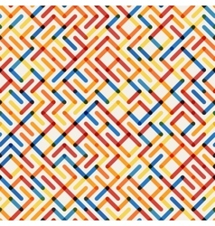 Seamlesss multicolor geometric line maze vector