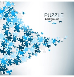Abstract background made from puzzle pieces vector