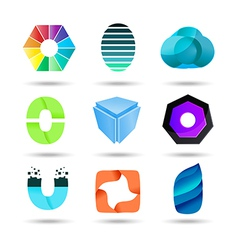 Abstract logo design set vector image