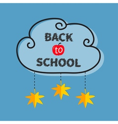 Back to school black cloud contour frame hanging vector