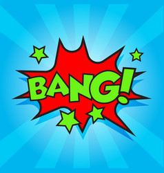 Bang comic sound effects sound bubble speech with vector
