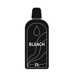 Bottle of bleach dry cleaning single icon in vector