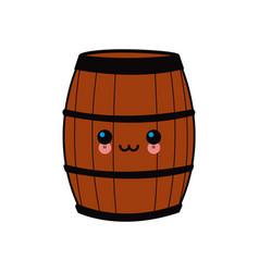 cartoon wooden wine barrel vector image vector image