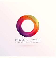 colroful abstract circle logo design template vector image