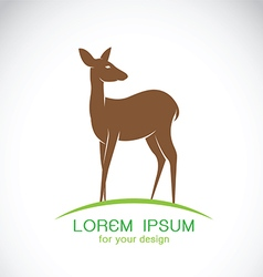 Deer design on a white background vector image vector image