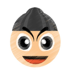 drawing thief emoticon image vector image