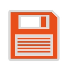 Floppy disk isolated icon design vector