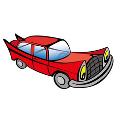 Funny old car cartoon vector