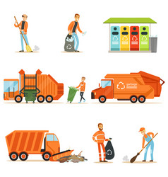 Garbage collector at work set of vector