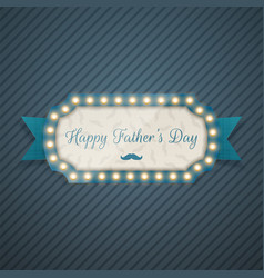 happy fathers day festive blue background vector image vector image
