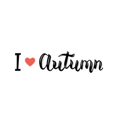 I love Autumn Trendy hand lettering quote vector image