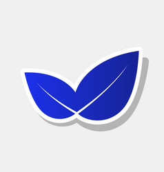 leaf sign new year bluish vector image