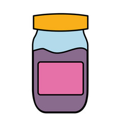 Marmalade bottle icon vector