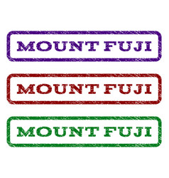 Mount fuji watermark stamp vector