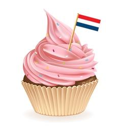 Netherlands Cupcake vector image vector image