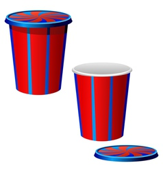 plastic cups vector image vector image
