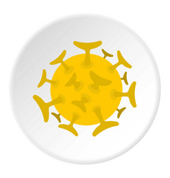 Round viral bacteria icon circle vector