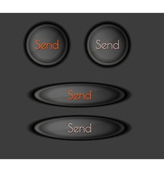 send buttons vector image