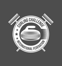 set of vintage curling labels and design elements vector image