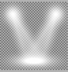 spotlight light effect white color vector image