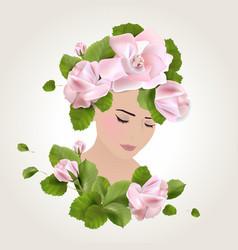 spring face vector image