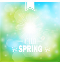 Spring typography poster or greeting card design vector