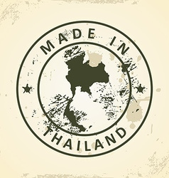 Stamp with map of thailand vector