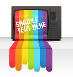 tv rainbow vector image vector image