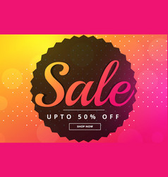 Vibrant sale banner poster design template vector