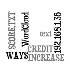 Ways to increase your credit score text word vector